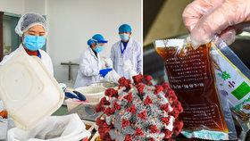 """Číňané léčí koronavirus """"hnědou bylinkovou polévkou"""", jedná se o součást tradiční medicíny."""