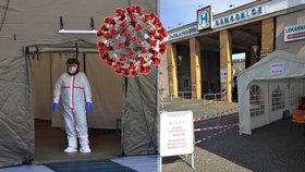 Do čtyř pražských nemocnic se valí stovky zájemců kvůli testům na koronavirus.