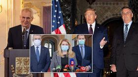 Prezidenti a koronavirus: Čaputová s rouškou, zbrklý Trump a nakažený Bolsonaro
