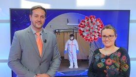 Epidemiolog Rastislav Maďar byl hostem pořadu Epicentrum vysílaného dne 19.3.2020. Vpravo moderátorka Andrea Ulagová.
