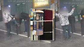 Policie pátrá po vandalovi, který z nepochopitelných pohnutek rozbil v metru na Stodůlkách dávkovač dezinfekce.