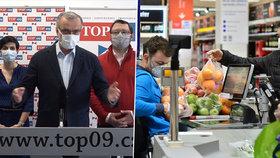 TOP 09 varovala před ekonomickou krizí, která by měla přijít kvůli koronaviru. (20. 3. 2020)