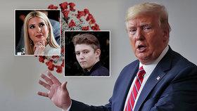 Koronavirus u Trumpových: Barron slavil narozeniny, Ivanka má testy negativní. Prezident o hrozbě věděl.