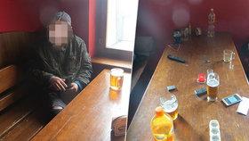 V podniku v Hrušovanech u Brna nalévali štamgastům i přes vyhlášený zákaz.