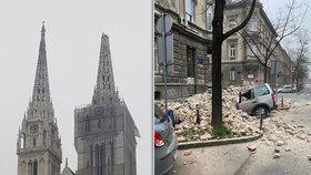 Záhřeb postihlo hned několik zemětřesení, zatím nejsou hlášeny žádné oběti.
