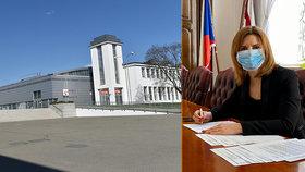 Pavilon G brněnského výstaviště, kde vyroste v případě nedostatečné lůžkové kapacity v nemocnicích krizová nemocnice.