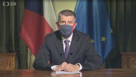 Premiér Andrej Babiš (ANO) a jeho projev k Čechům (23. 3. 2020)