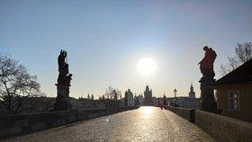 Vylidněná Praha (24. 3. 2020)