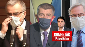 Komentář Petra Holce: Zleva Miroslav Kalousek (TOP 09), Andrej Babiš (ANO) a Petr Fiala (ODS)