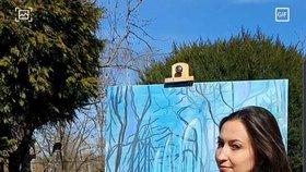 Lucie Gelemová využívá karanténu k tvorbě svých obrazů.