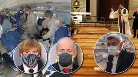 Koronavirus v Česku i ve světě: Nákaza se šíří, počet mrtvých přibývá. Na snímku Adam Vojtěch, Roman Prymula a Andrej Babiš