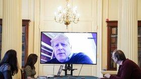 Boris Johnson ve videokonferenci Downing Street