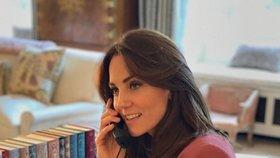 Kate ve své pracovně v Kensingtonském paláci
