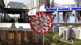 Kromě řádně hospitalizovaných pacientů na koronavirus se u pražských nemocnic začíná onemocnění objevovat také mezi personálem.