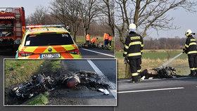 Tragická nehoda u Poděbrad: O život přišli dva motorkáři (28. 3. 2020).