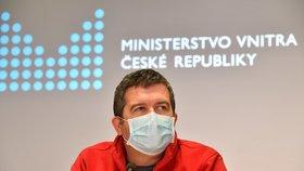 Ministr vnitra Jan Hamáček (ČSSD). (1.4.2020)