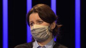 Jana Maláčová (ČSSD) hájila program Antivirus v pořadu Máte slovo u Michaely Jílkové na ČT (2.4.2020)