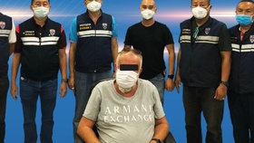 Thajská policie se pochlubila zatčením českého podnikatele Bohumila K.
