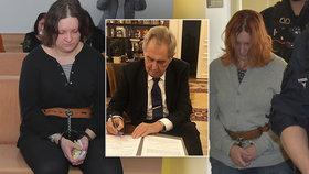 Prezident Zeman podepsal novelu, podle které  soudy  nebudou muset přerušovat vězení všem ženám, které otěhotní. (3. 4. 2020)