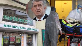 Premiér Andrej Babiš (ANO) připustil, že by v týdnu mohly otevřít další obchody. A nemocnice Brno by měla přijmout nakažené Francouze.