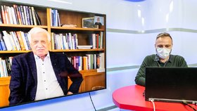Bývalý prezident Václav Klaus v pořadu Blesku Epicentrum. (7.4.2020)