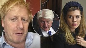 Premiérův otec pevně věří, že se Johnson uzdraví. Těhotná snoubenka pláče.