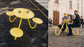Oba autoři předvedli svůj návrh na brněnském Kapucínském náměstí.