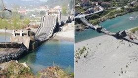U Italské Aully se zřítil most.