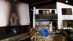 Rodině ze Vsetínska oheň zničil dům.