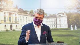 Jednání vlády o koronaviru: vicepremiér a ministr průmyslu, obchodu a dopravy Karel Havlíček (9.4.2020)