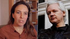 Assange v azylu zplodil s právničkou Stellou Morisovou dva syny: Žena žádá o jeho propuštění kvůli koronaviru.