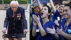 Válečný hrdina (99) vybral pro zdravotníky 123 milionů korun tím, že chodil po zahradě.