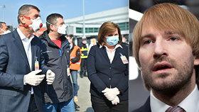 Ministerstvo zdravotnictví čelí otázkám ohledně nákupu respirátorů. (15. 4. 2020)