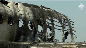 Nové záběry havárie letadla v Moskvě. Při neštěstí zemřelo 41 lidí.