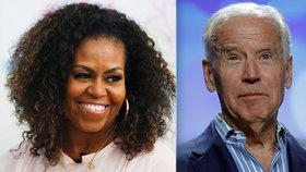 Demokraté doufají v duo Joe Biden a Michelle Obamová, bývalou první dámu chtějí za viceprezidentku