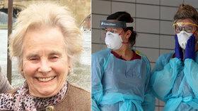 Vážená zdravotní sestra Margaret Tapleyová (†84) podlehla koronaviru.
