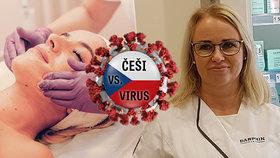 Kosmetička Pavlína Švecová svou profesi miluje, ale obává se, jaký na ni bude mít vliv koronavirus do budoucna.