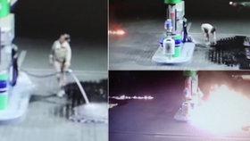 Šílená pyromanka řádila na pumpě v Nitře.