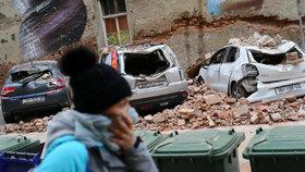 Zemětřesení, které postihlo 22. 3. 2020 chorvatskou metropoli Záhřeb.