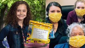 Holčička ráda šila a skoro celá její rodina pracovala ve zdravotnictví. Ušila proto úplně sama 100 roušek. Za pár dní nato ji potkala tragická nehoda na čtyřkolce.