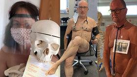 Bez ochranných pomůcek jsme jako nazí: Němečtí lékaři upozorňují na kritický nedostatek nahými fotkami.