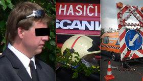 Dobrovolný hasič z Kobylí zemřel při nehodě poblíž Lanžhota. Pracoval jako silničář a na dálnici D2 ho srazil kamion.
