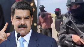 """Venezuelci zmařili pokus o svržení režimu a zadrželi Američany. """"Chtěli mě zabít,"""" tvrdí prezident Maduro."""