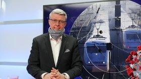 Vicepremiér a ministr dopravy i průmyslu a obchodu Karel Havlíček (za ANO) hostem pořadu Epicentrum dne 5. 5. 2020.