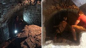 Jake Brown objevil pod svým domem v Plymouthu historický tunel.