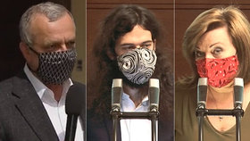 Sněmovna o koronaviru a EET: Miroslav Kalousek (TOP 09), Mikuláš Ferjenčík (Piráti) a Alena Schillerová (za ANO) (6. 5. 2020)