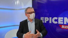 Ministr kultury Lubomír Zaorálek (ČSSD) v Epicentru (7.5.2020)