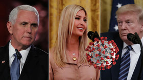 Koronavirus obchází Bílý dům, nakazili se asistenti Trumpových i mluvčí viceprezidenta.
