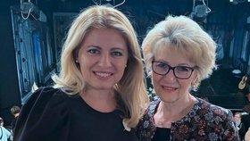 Slovenská prezidentka Zuzana Čaputová s maminkou.
