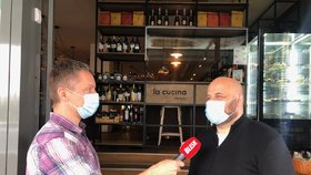 Majitel restaurace David Beránek a majitelka kosmetického salonu Alena Andělová v pořadu Epicentrum 11.5.2020